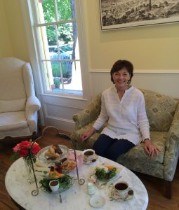 Kathleen Bakula of Mobili-T  offers private afternoon high tea by appointment.