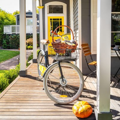 BCI Front Door with Bicycle
