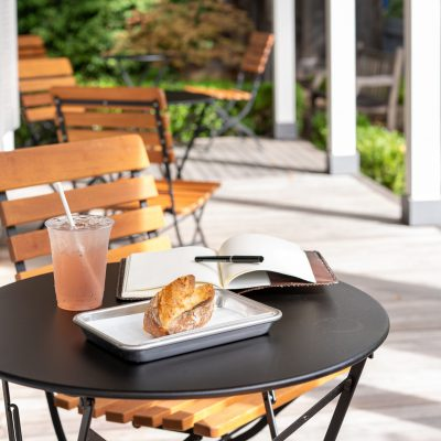 BCI - Serene outdoor seating with bites from Sam's General Store